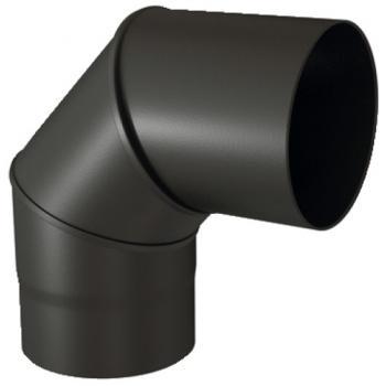 Coude rigide 90° Sanpli émail noir mat