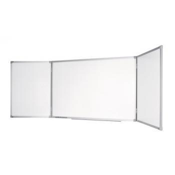 Tableau tryptique blanc Legamaster ECONOMY PLUS 90x120-240cm surface acier émaillé cadre en aluminium et angle plastique