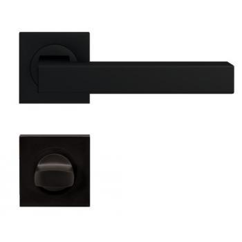 Béquilles doubles sur rosaces carrées série ER 46 Q Seattle finition noir Cosmos