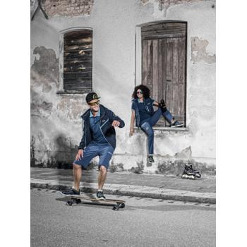 Polo pour homme, manches courtes, bleu pétrole, Collection 26