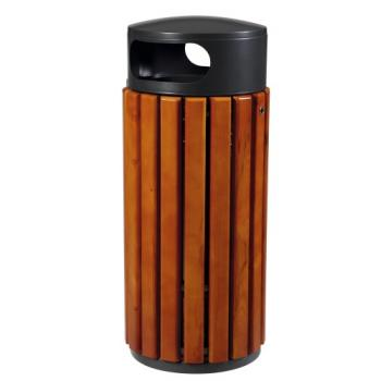Corbeille extérieures bois /métal Zeno 40 litres