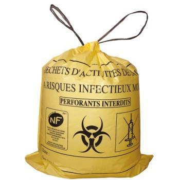 Sacs poubelles pour déchets d'activités de soins à risques infectieux mous