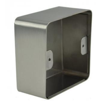 Boîtiers de montage en applique pour bouton poussoir Ø 25 mm sur plaque inox