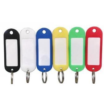 Porte-clés à étiquettes 5 coloris assortis CAVALLO