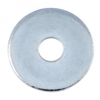 Rondelles plates de charpentier acier zingué blanc