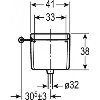 Réservoir de chasse indépendant haut simple chasse AP123 à déclenchement à distance