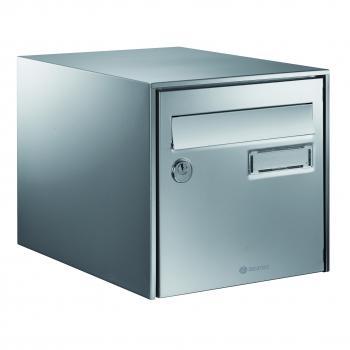 Boîte aux lettres inox Loft anticorrosion - double face - L 300 x H 290 x P 410 mm