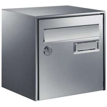 Boîte aux lettres inox Loft anticorrosion - demi-format - L 300 x H 290 x P 150 mm