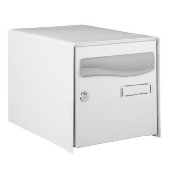 Boîte aux lettres Prembox - simple face - gris RAL 7035 - L 302 x H 300 x P 410 mm