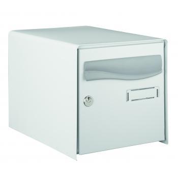 Boîte aux lettres Prembox - double face - gris RAL 7035 - L 302 x H 300 x P 410 mm