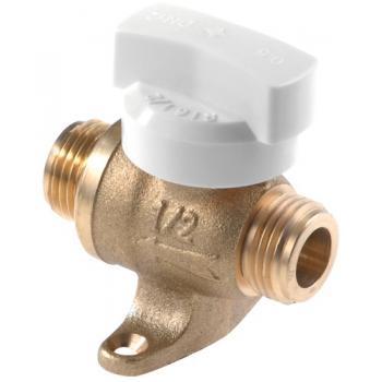 Robinet droit gaz naturel à sphère 1/4 de tour joint plat gaz