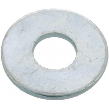 Rondelles plates Lu acier zingué blanc