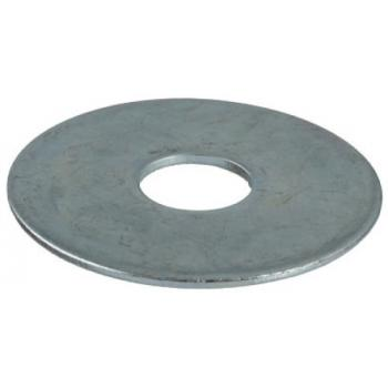 Rondelles plates LLu acier zingué blanc