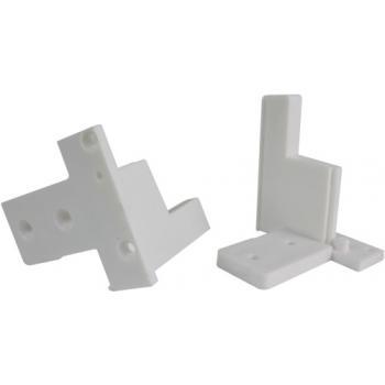 Sachet PER60-L2 de 5 paires de plateformes de fixation pour seuils et meneaux finition blanc ral 9010