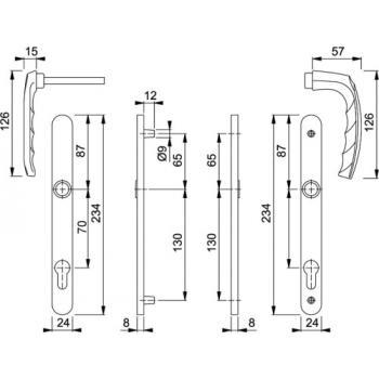 Ensembles sur plaques étroites saillie extérieure réduite en aluminium anodisé - ATLANTA