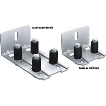 Guide bas simple voie réglable en épaisseur pour volets coulissants Win-Slide et Win-Slide R