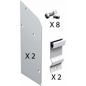 Kit d'embouts simple voie en aluminium 11166 voie pour volets coulissants Win-Slide R