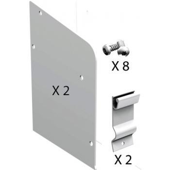 Kit d'embouts en aluminium 11167 pour double voie pour volets coulissants Win-Slide R