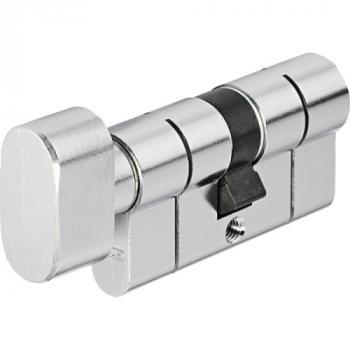 Cylindres D6PS double à bouton variés en laiton nickelé 5 clés