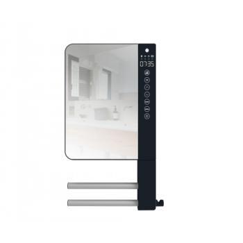 Sèche-serviettes électrique soufflant Télia avec miroir + 2 barres et 1 patère