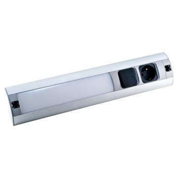 Réglette de meuble LED avec interrupteur et prise 230 V