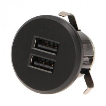 Chargeur double USB encastrable