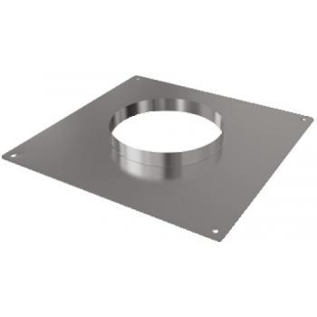 Plaque d'étanchéité inox carrée 350 x 350 mm