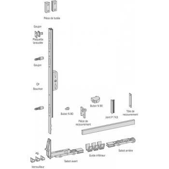 Accessoires pour ferrures coulissantes levantes GU 937