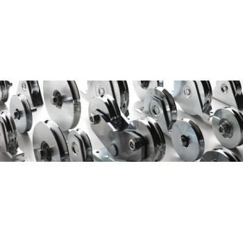 Roues à gorge triangulaire 300 V - 1 roulement pour roues à roulements à billes