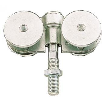 Roulettes doubles - à boulon pivotant à très faible encombrement