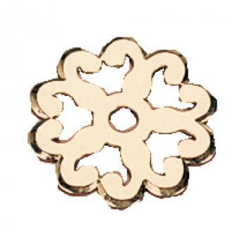Rosaces pour poignées 2 attaches rustiques laiton