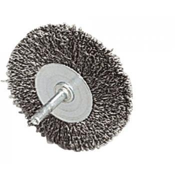 Brosses acier sur tige Ø 6 mm