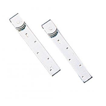 Montures à galet pour portes à déplacement droit en fer plat