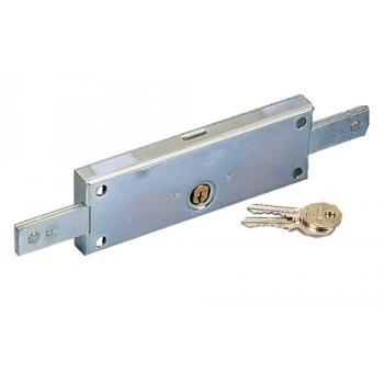Serrure à tringles pour porte de garage et rideau métallique à cylindre rond 4517N