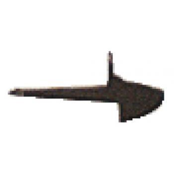 Mentonnet pour loquet acier brut