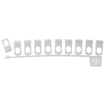 Glisseur asymétrique pour tringle Klick System