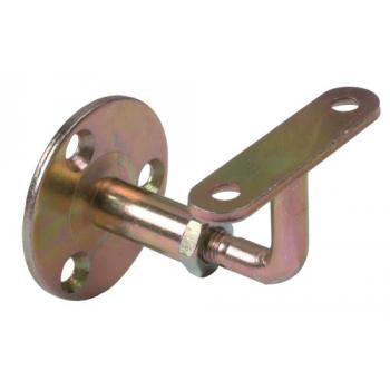 Support de rampe coudé réglable acier zingué bichromaté pour mains courantes et garde-corps Stor