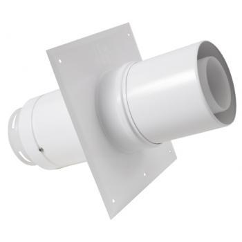 Plaque de plafond Econext + tuyau télescopique Ø 80 mm