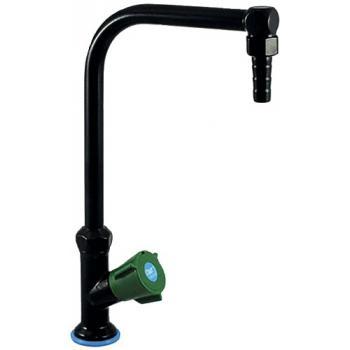 Colonne à un robinet sur table à bec orientable