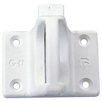 Loqueteau pour chassis en PVC blanc