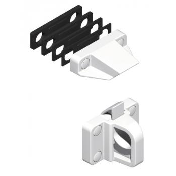 Loqueteau composite pour châssis PVC blanc