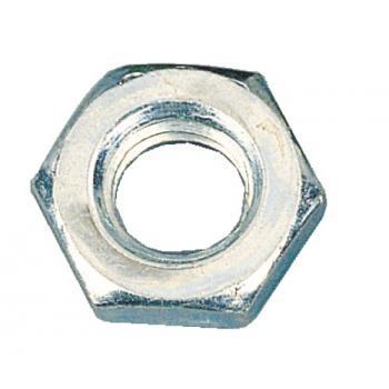 Écrous hexagonaux Hm bas acier zingué blanc classe 6