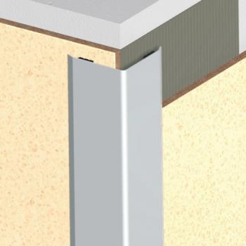 Cornières adhésives de protection d'angles inox satiné