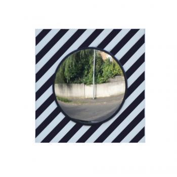 Miroir de surveillance rond à bandes réfléchissantes pour voirie
