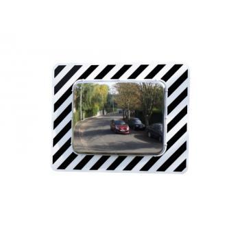 Miroirs de surveillance rectangulaires à bandes réfléchissantes pour voirie