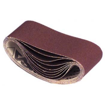 Abrasifs en bandes courtes 75 x 533 mm toile rigide corindon KK 504 X