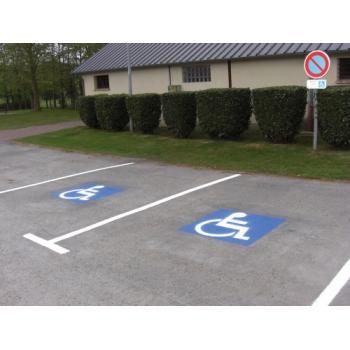 Pochoir handicapé polypropylène 108 x108 cm