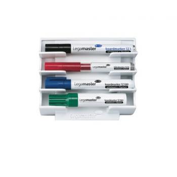 Porte-marqueur magnétique pour tableaux blancs capacité 4 marqueurs