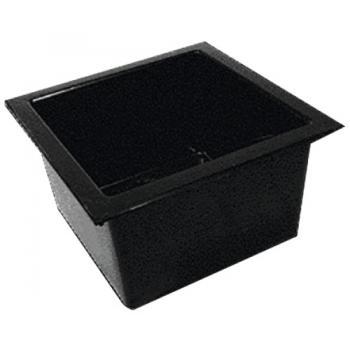 Bac simple polypropylène 45 x 45 cm avec trop plein et bonde