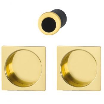 Set de tirage aluminium pour porte coulissante rosace carré 4921